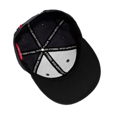 Thrilla Gorilla Dot Logo Snapback Hat (Black)