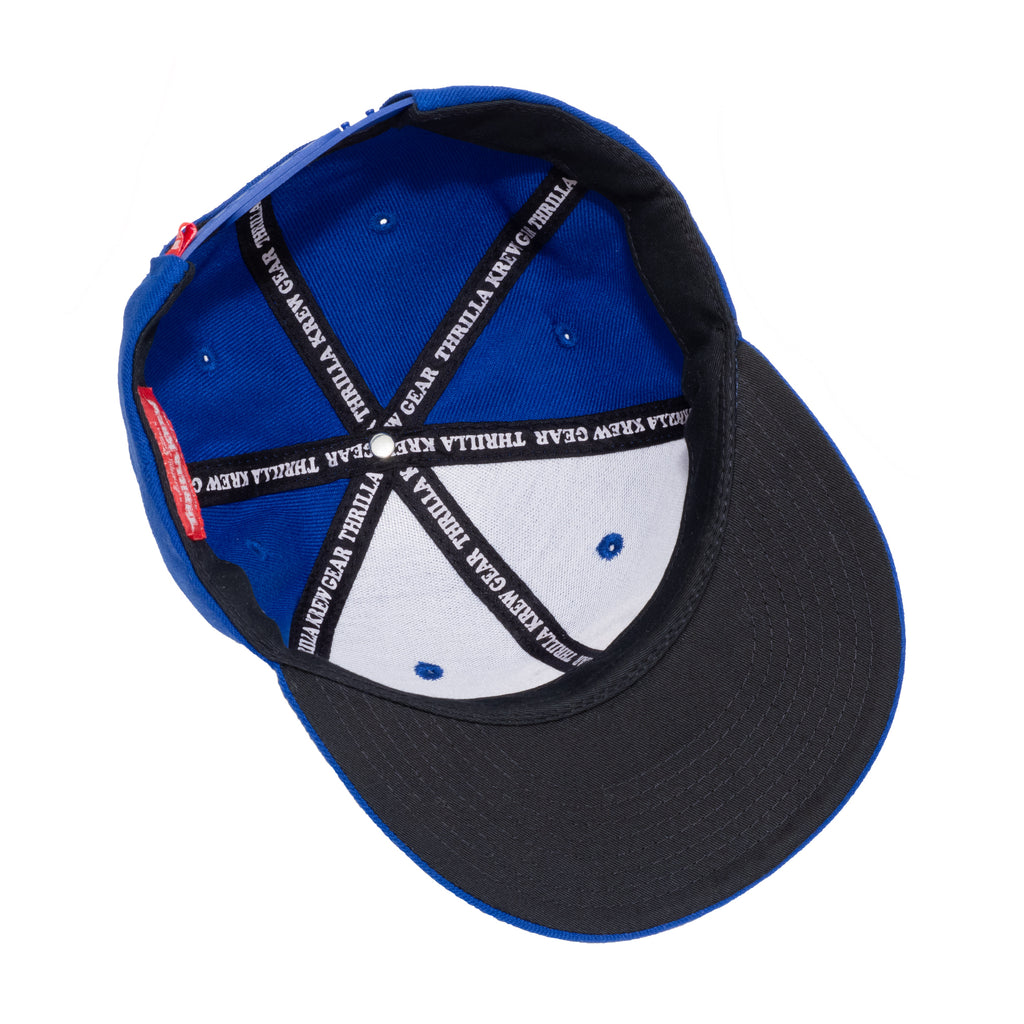 Thrilla Gorilla Dot Logo Snapback Hat (Royal)