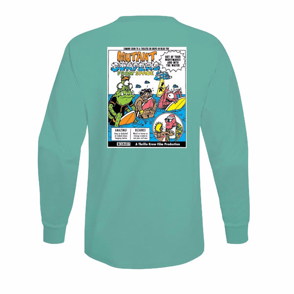 Mutant Surfers Long Sleeve Tee (Celadon)
