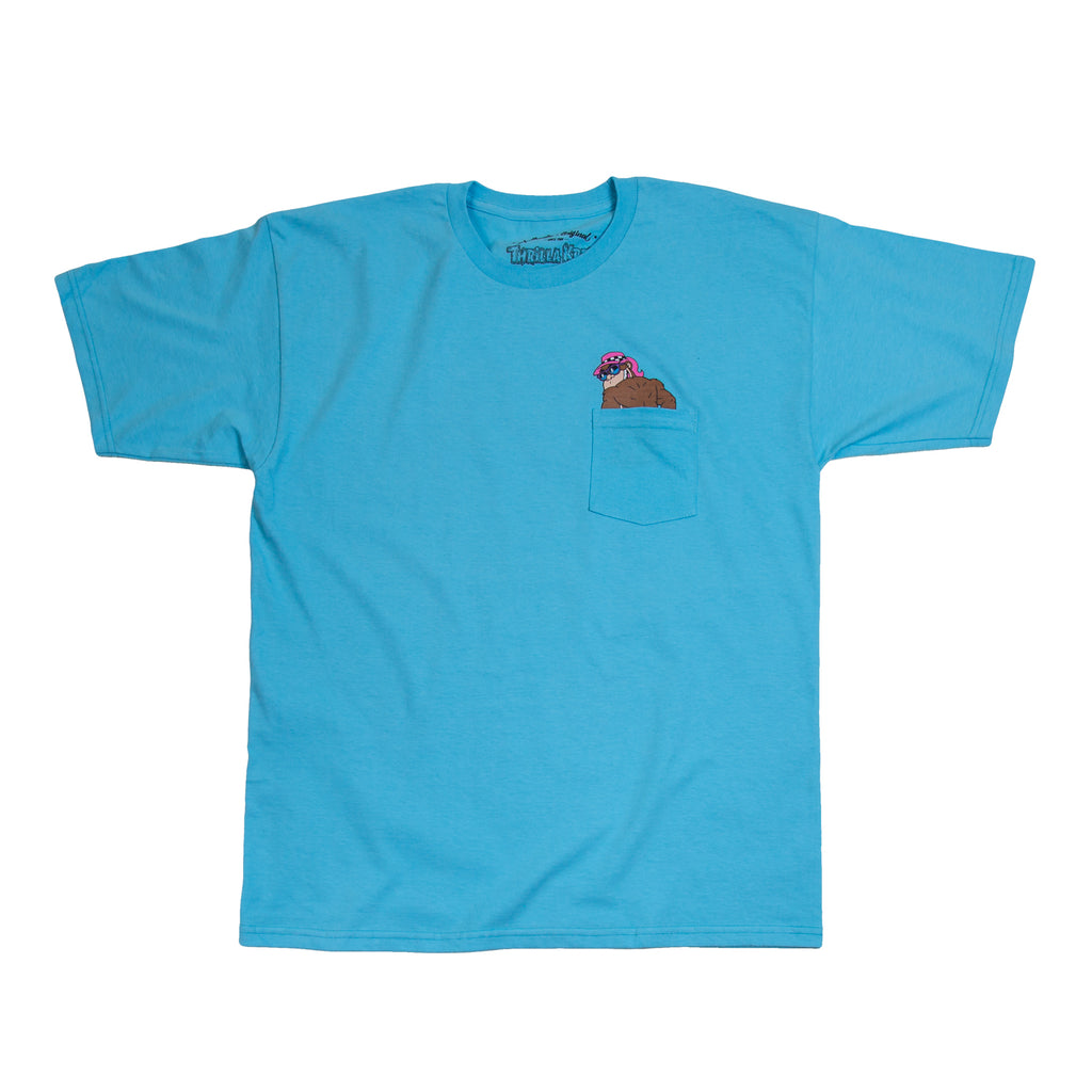 Thrilla Gorilla Beach Bum Men's Pocket T-Shirt (Pacific Blue)