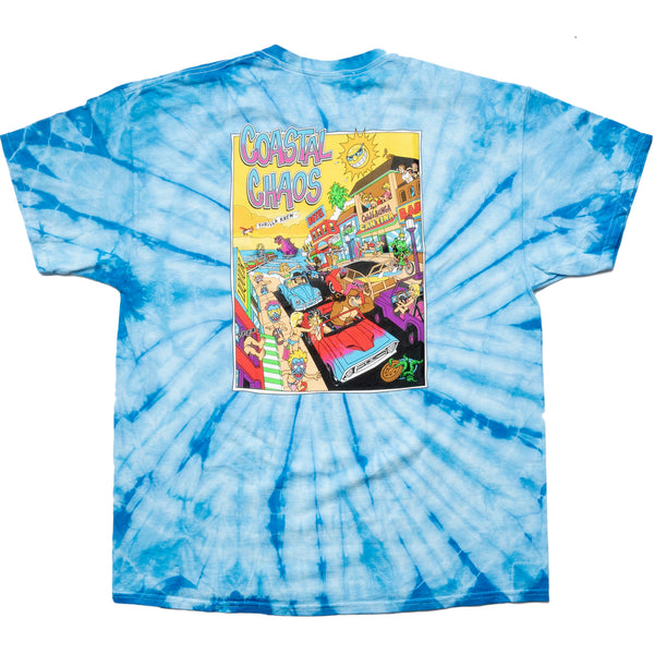 Coastal Chaos Thrilla Krew Tie Dye(Bleach Blue)