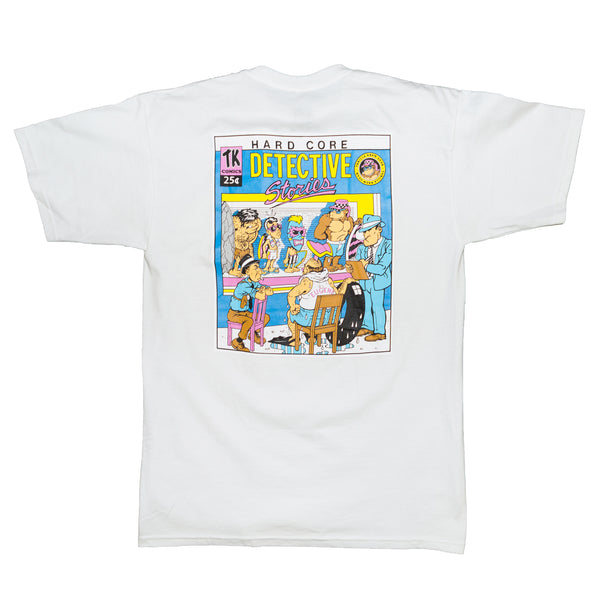 Hardcore Detective Stories Thrilla Krew Tee (White)