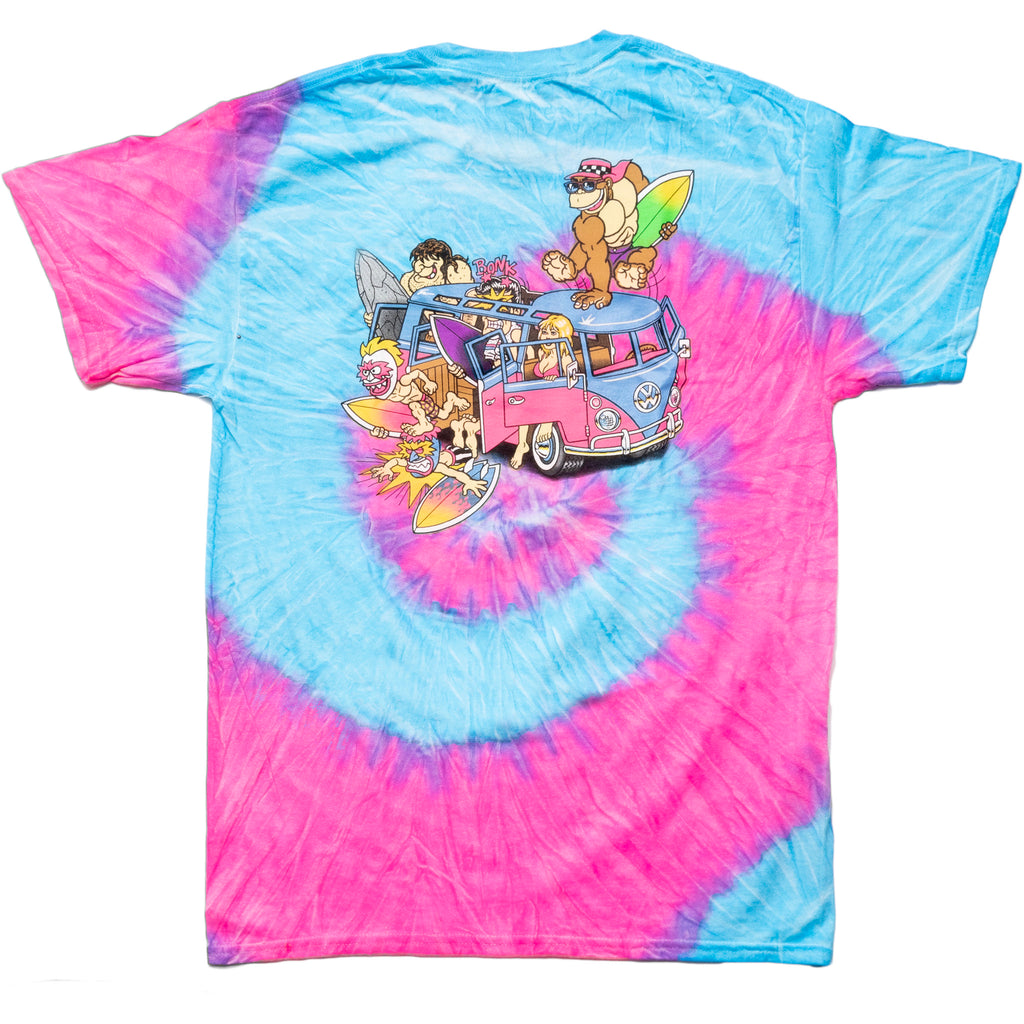 Microbus Tie Dye (Red/Blue)