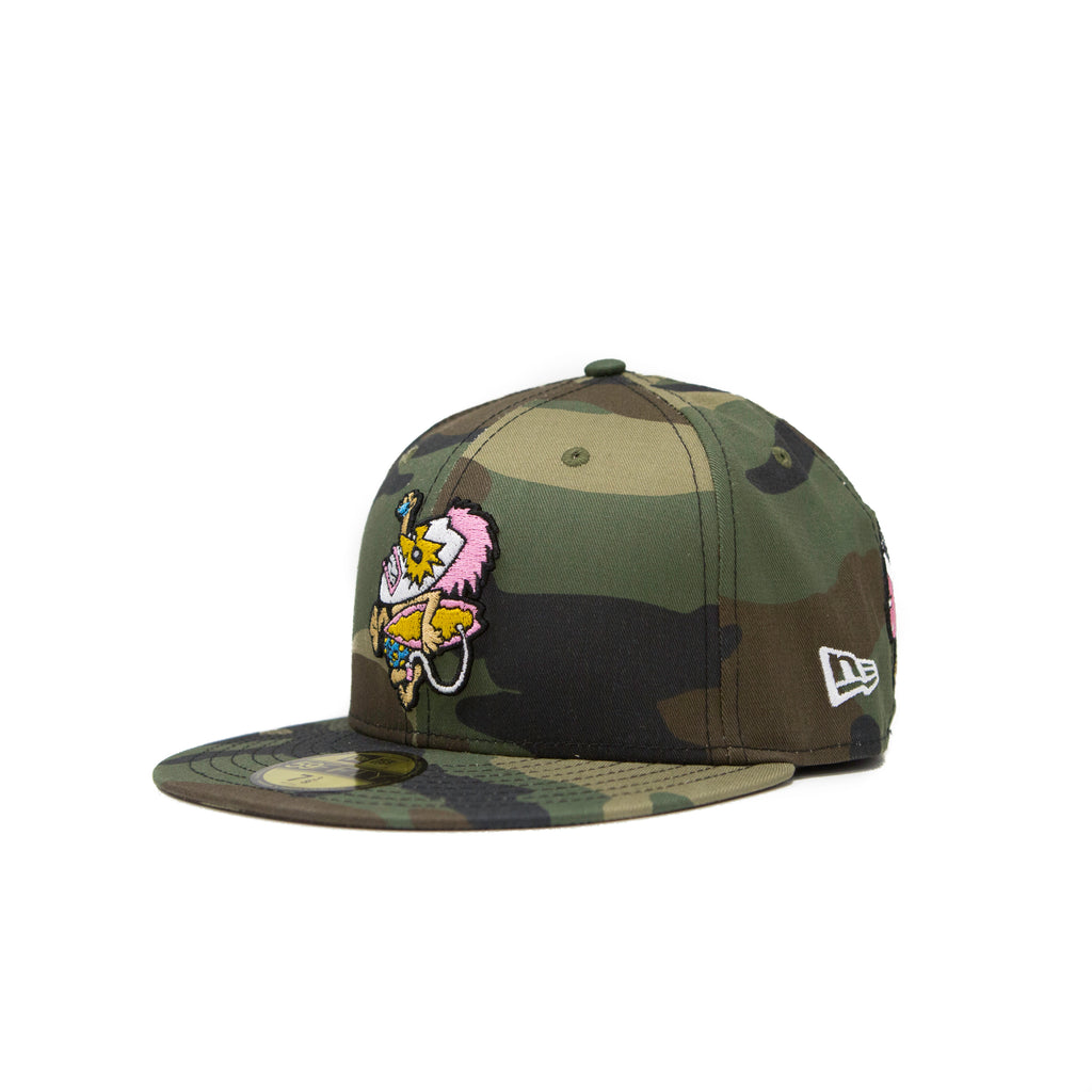 "NewEra 59Fifty - ""Pray For Surf"" Wave Warriors Camo Fitted Hat"