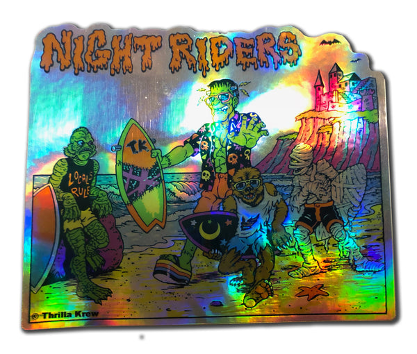 Night Riders Holographic Metallic Vinyl Sticker