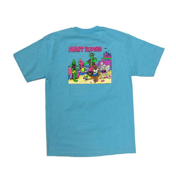 Night Riders Monster Tee - OG '80s Reissue (Pacific Blue)