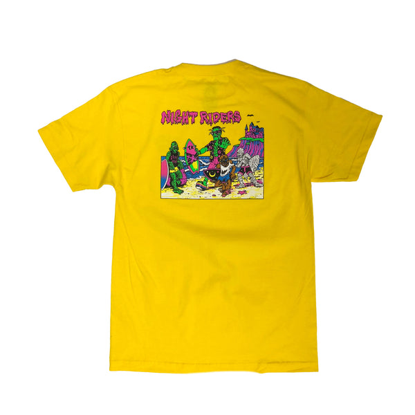 Night Riders Monster Tee - OG '80s Reissue  (Yellow)