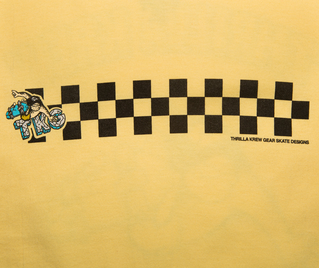 Primal Pete Checker Thrilla Krew Tee (Banana)