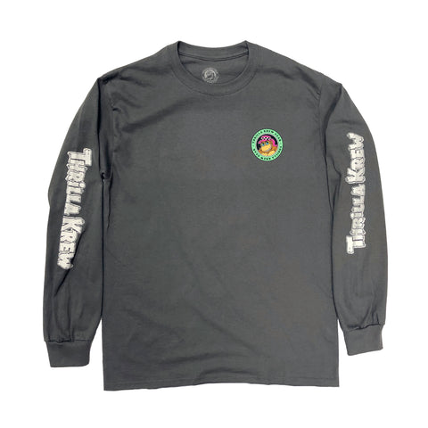 Thrilla Krew Surf Fade Long Sleeve Tee (Coal)
