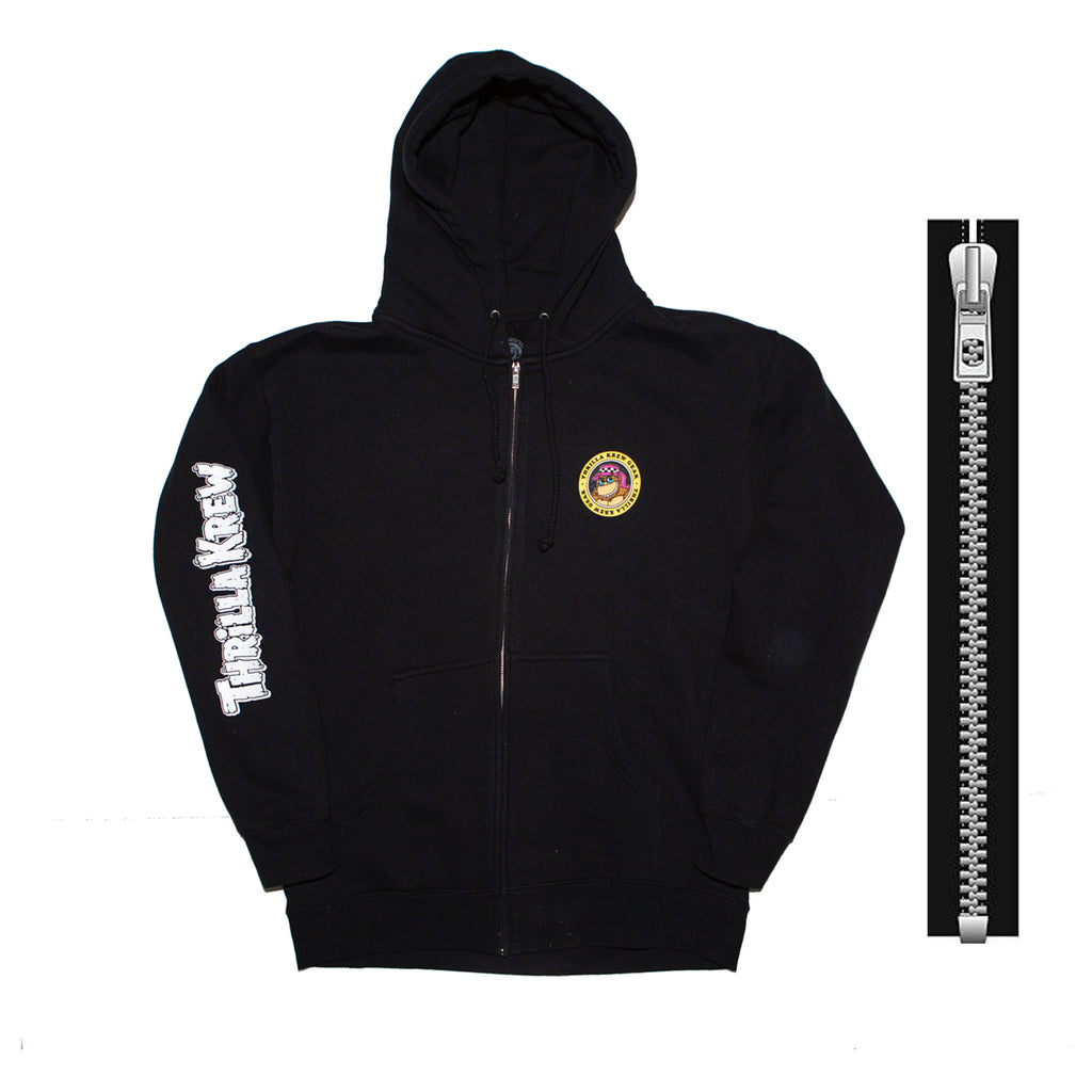Thrilla Gorilla Checker Shaka Zip Up Hoodie (Black)