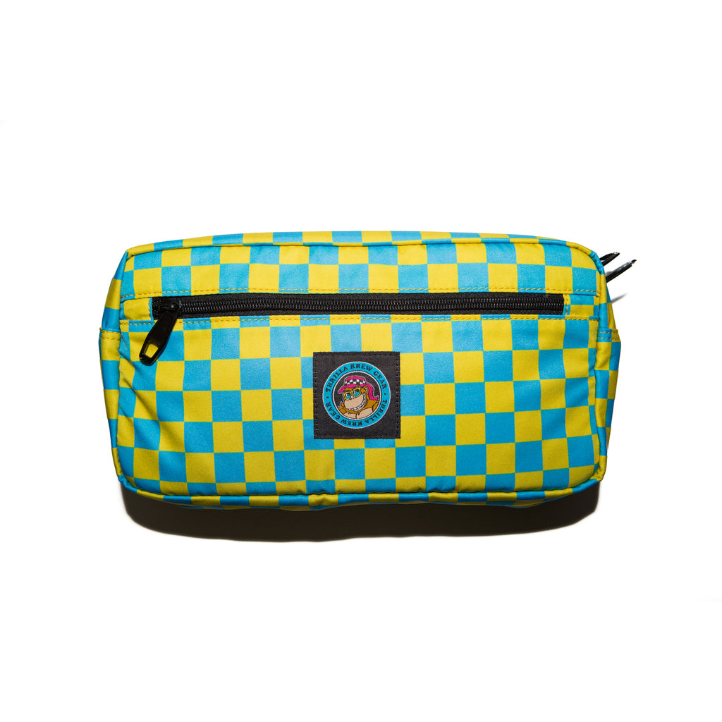 Thrilla Gorilla Logo Hip Bag (Teal Checker)