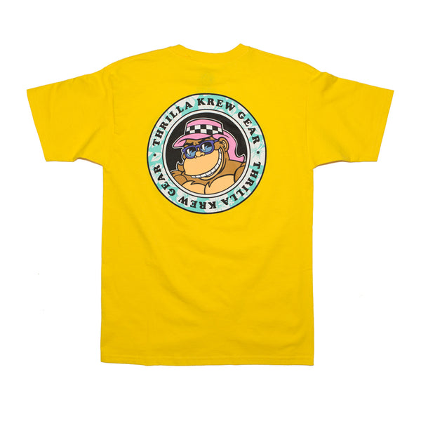 Thrilla Gorilla Floral Dot Logo Tee (Yellow)