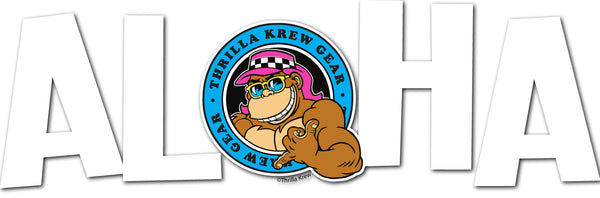 Thrilla Gorilla Aloha - Transparent Vinyl Sticker