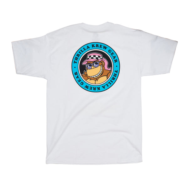 Thrilla Gorilla Dot Logo Tee - Blue Edition (White)