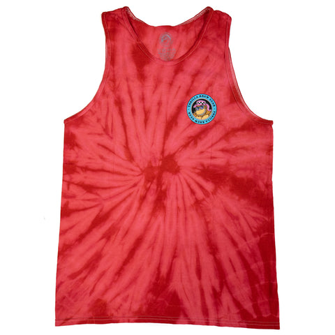 Da'Boys Tie Dye Tank (Bleach Red)