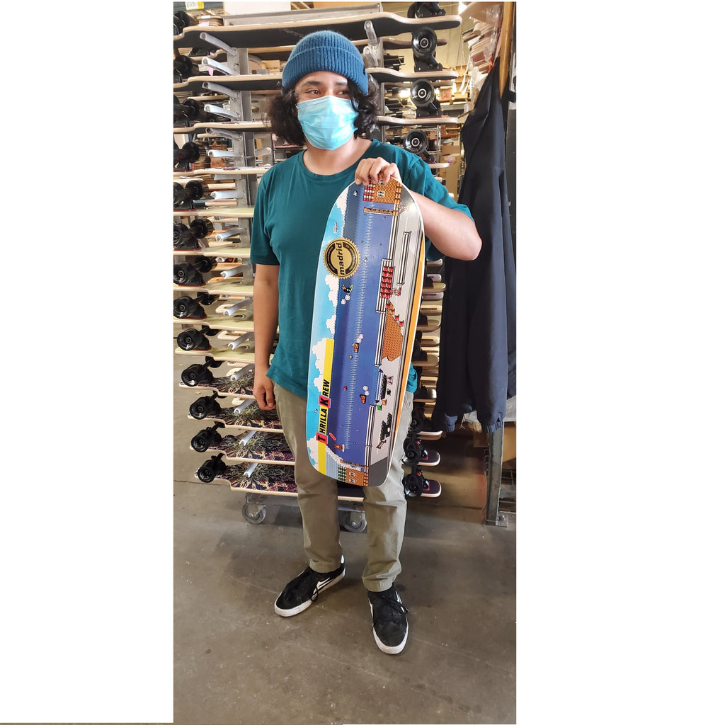 Collectors Edition Thrilla Krew Wood Water Rage Skateboard made by Madrid!