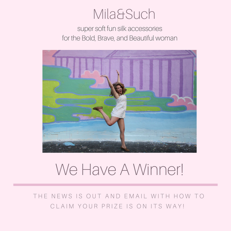 THE WINNER OF 5/1/2018 FREE SILK SCARF GIVEAWAY IS...