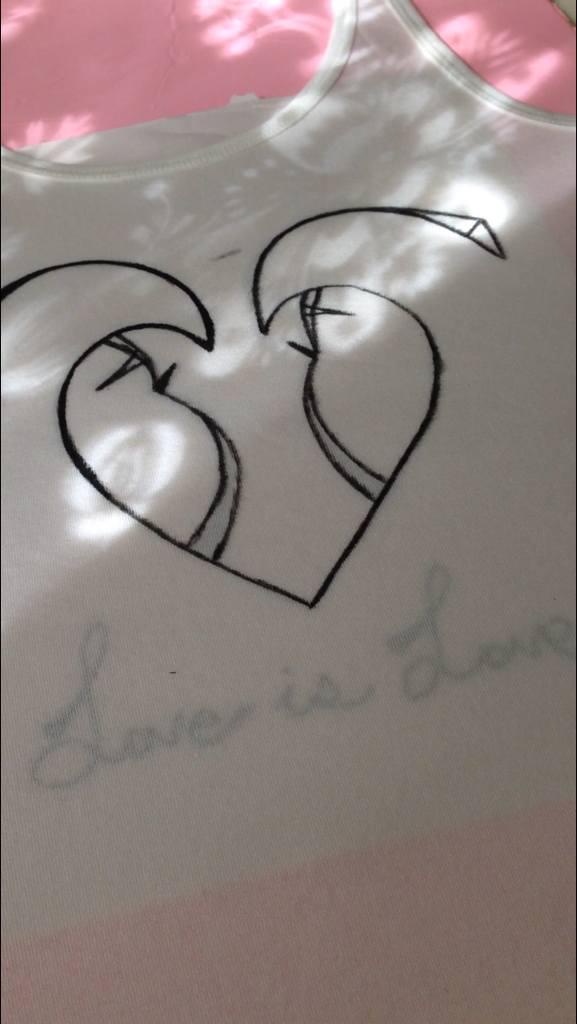 Love Is Love Tank Top (in progress)