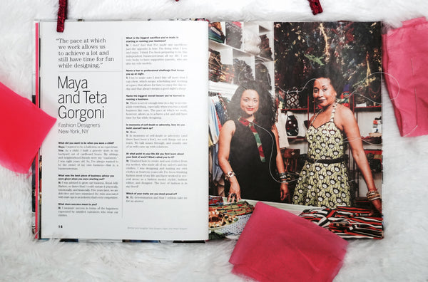 #womanboss Maya & Teta Gorgoni Fashion Designers, New York