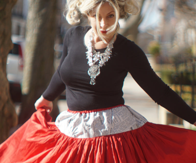 February Is About Romantic Looks & Flirty Sofistafunk Skirts...In Red!