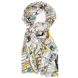 LOTS OF LUCK  Silk Scarf Shawl Tarot Cards Illustrations