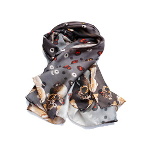 BARE BONES Snapping-Dragon Skull Neckerchief Scarf