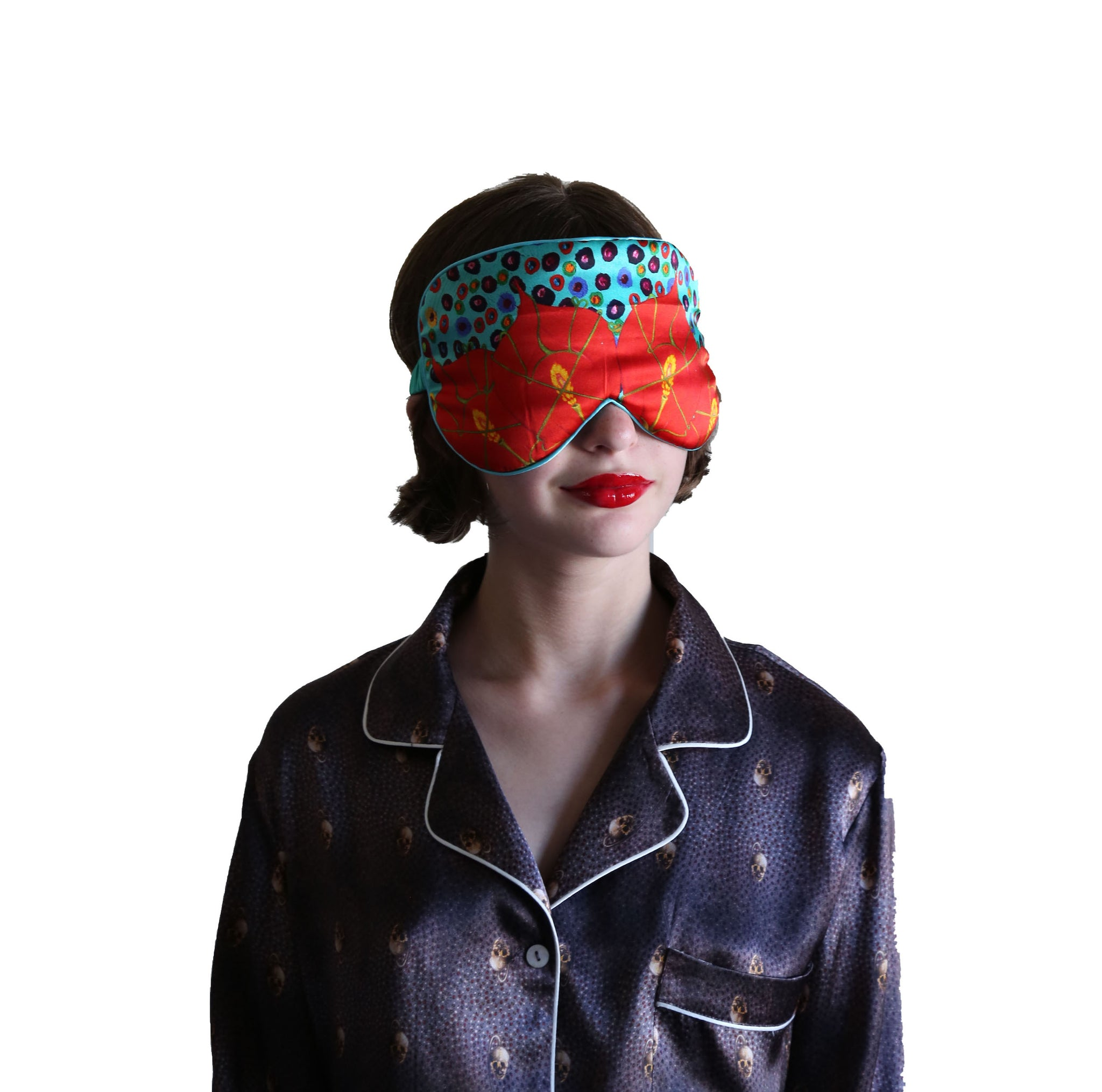 BIND ME NOT  Resting Comfort Silk Mask (Turquoise)