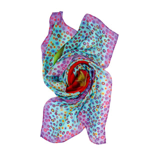 BIND ME NOT Silk Shawl Scarf