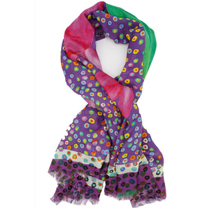 BIRTH Silk Square Scarf Neckerchief Christmas Cactus