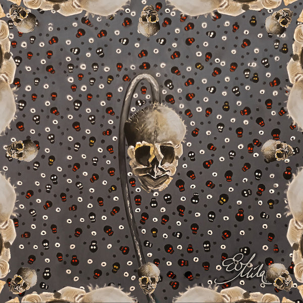 "*NEW* Bare Bones"" Skull Silk/Wool Scarf, Head Wrap, Fashion Accesory, Neck Scarf, Fashion Scarf, Neckercheif, Pashima"