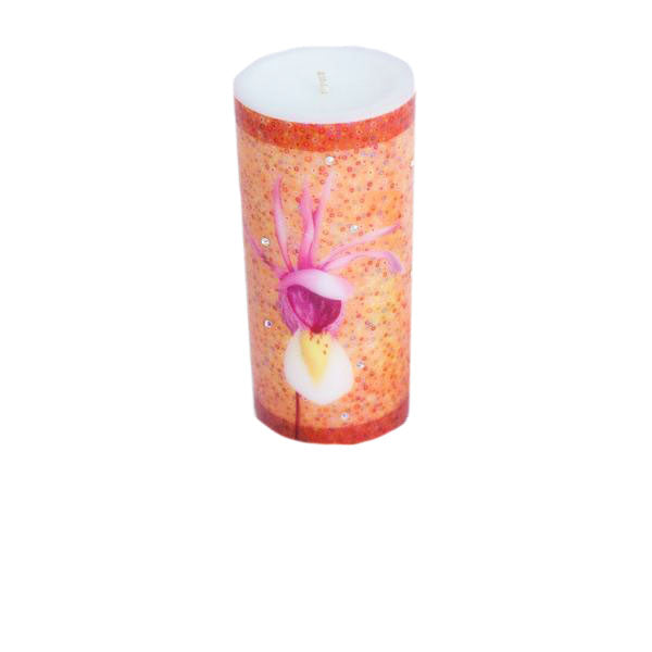 Swarovski Crystals Pillar Candle CALYPSO Unscented
