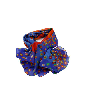 KOCKY Silk Square Scarf  Neckerchief Bird Of Paradise