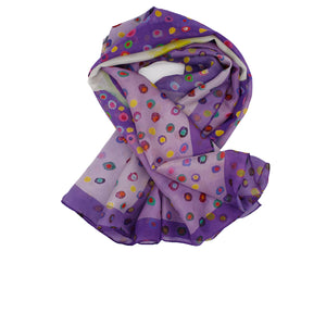 FLOAT Silk Square Scarf Neckerchief Calla Lily