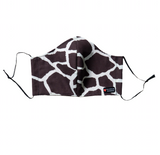 """Savannah"" Fashion Cotton Giraffe Print Face Mask With Filter (ADULT)"