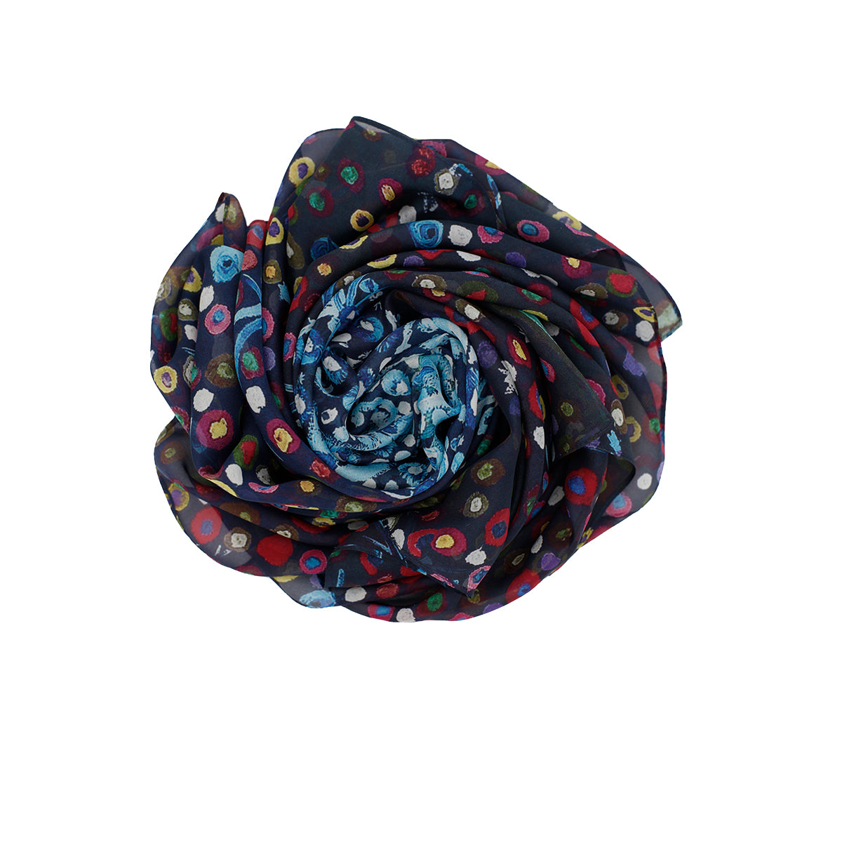 HIDDEN Silk Square Scarf Neckerchief Dandelion