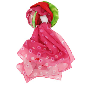 KISS ME Silk Square Scarf Neckerchief Shawl