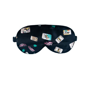 HIDDEN LUCK  Resting Comfort Silk Mask (Midnight Black)