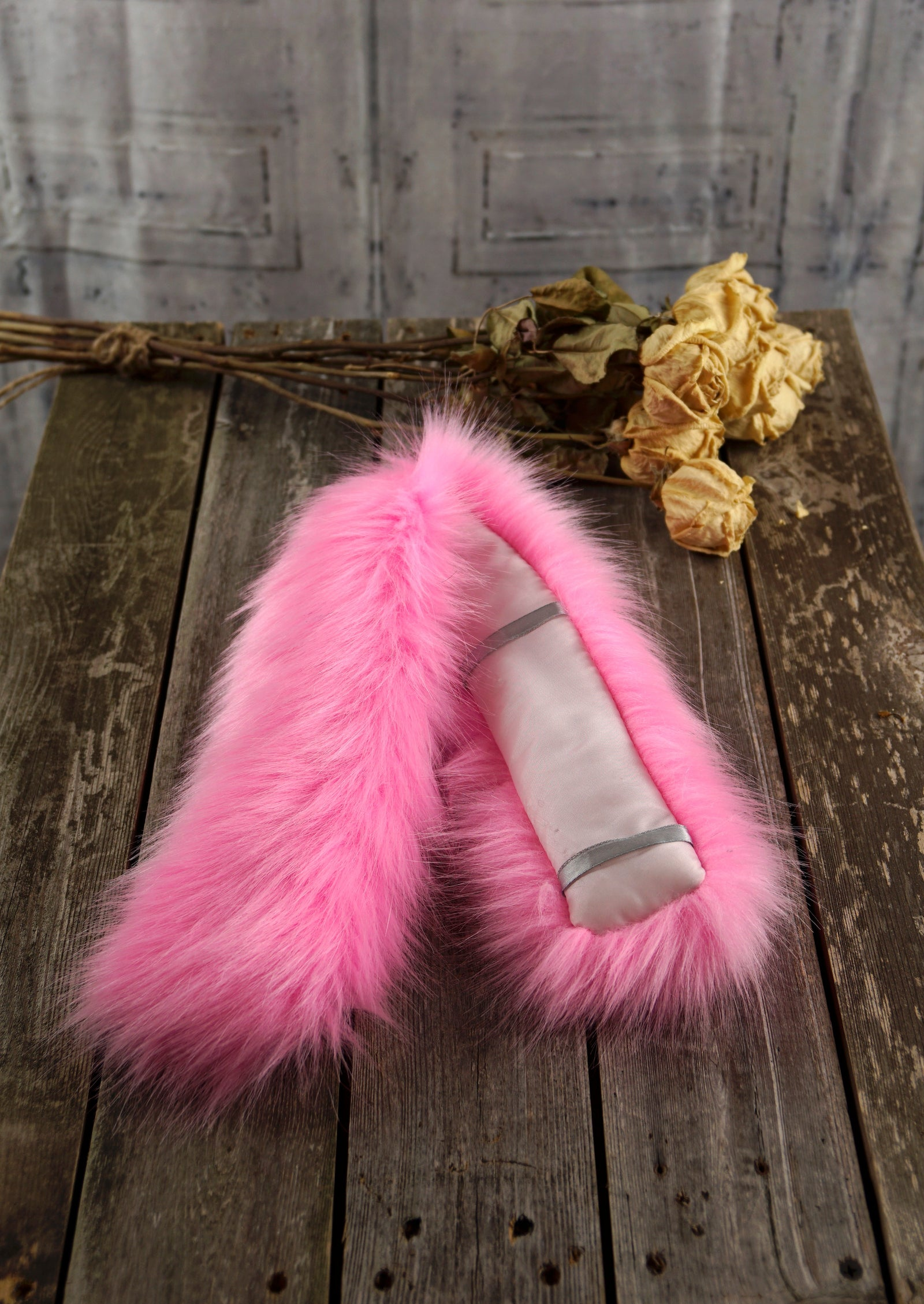 Gifts For Her NeckOlette Faux Fur Scarf Accessory (Pink Fur) – Mila Such 586861cdfe09