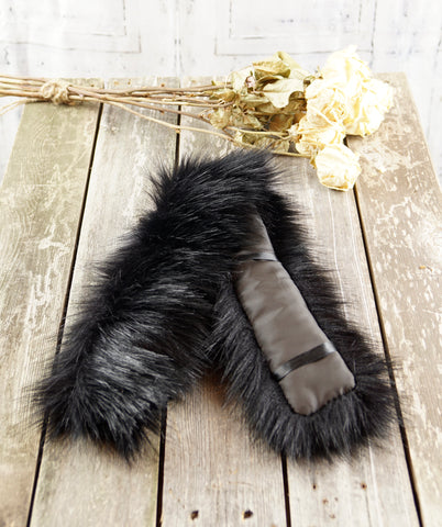 Gifts For Her NeckOlette Faux Fur Scarf Accessory (Grey Fur)