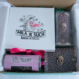 BARE BONES MAGNIFICENT BOX Mother's Day Gift Set For Her Scarf, Candle, Print