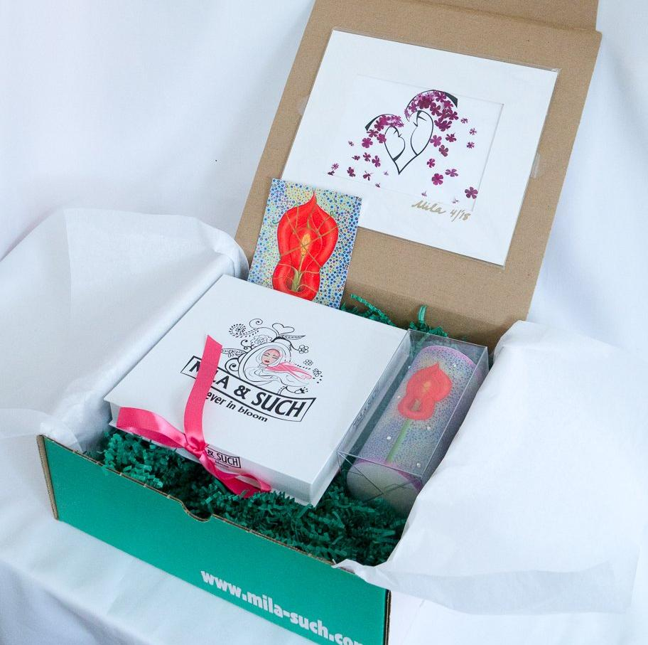 BIND ME NOT FANCY BOX Gift Set For Her Scarves Candle Print MilaSuch