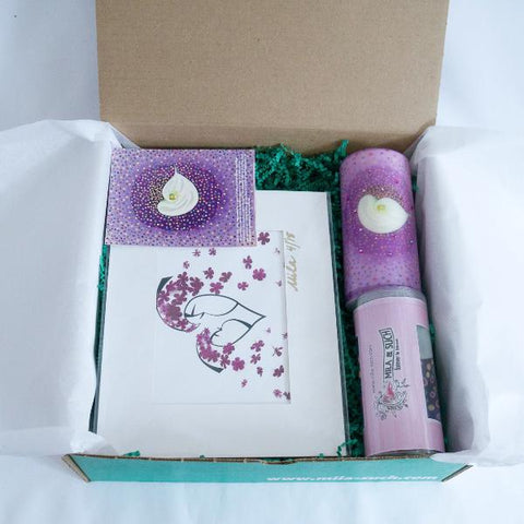 BIND ME NOT FANCY BOX Mother's Day Gift Set For Her Scarves, Candle, Print