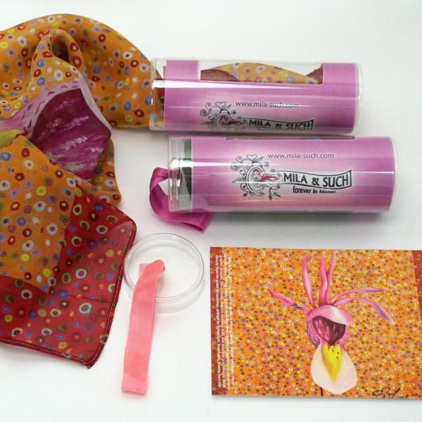 CALYPSO LOVELY BOX Gift Set For Her Scarf, Candle, Print