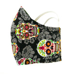 """Sugar Skulls"" Fashion Cotton Face Mask With Filter (ADULT)"