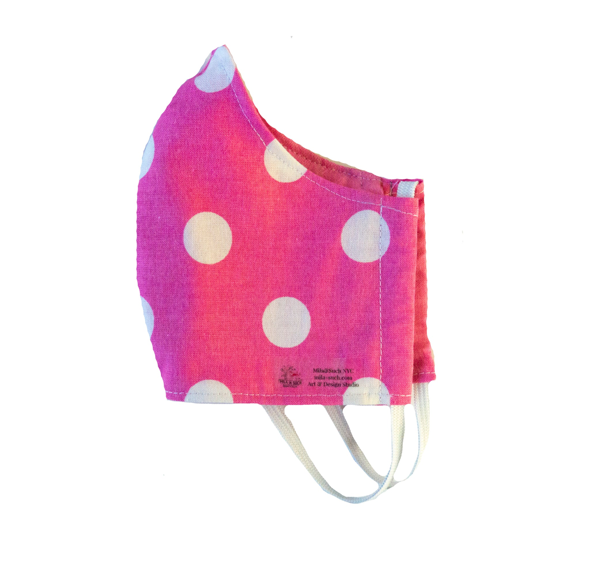 """Minnie Mouse Pink Dots"" Fashion Cotton Face Mask With Filter (ADULT)"