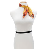 PLAYFUL Silk Square Scarf Neckerchief African Daisy