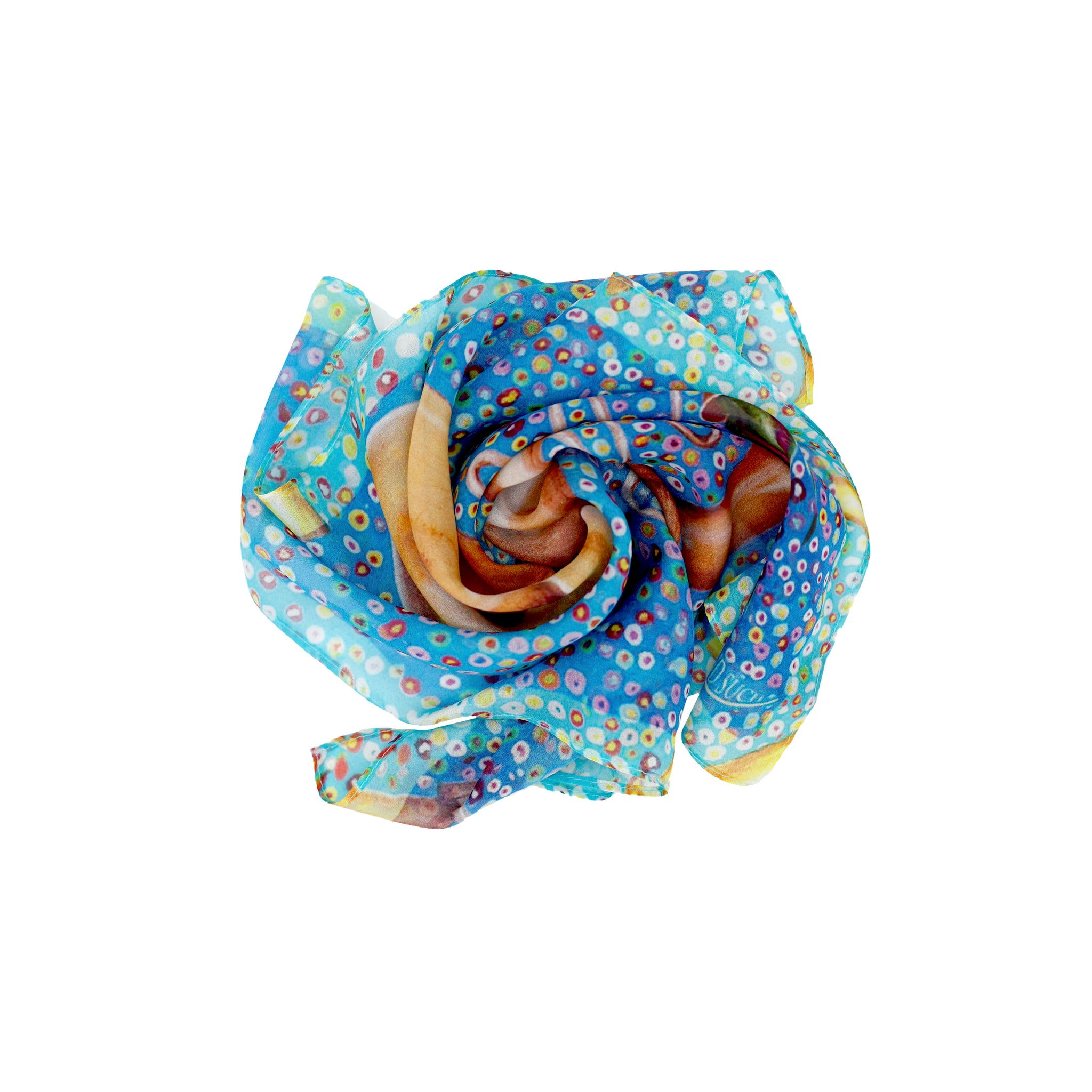 RESONATE Silk Neckerchief Square Scarf Tuba/Rose