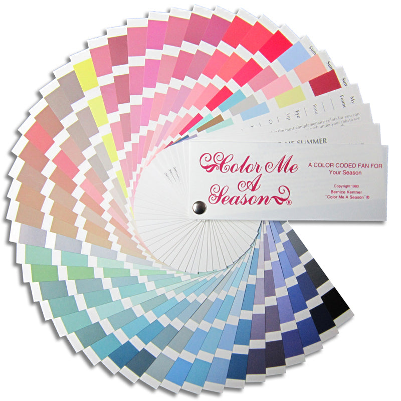 Color Fan for Cool Light Summer Palette (Your Perfect Colors When Shopping)