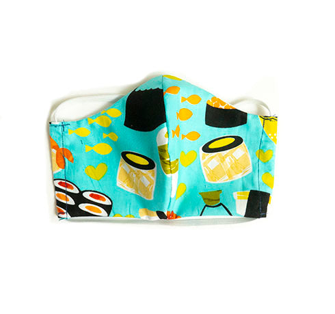 """Sushi Time"" Fashion Cotton Face Mask With Filter (ADULT)"