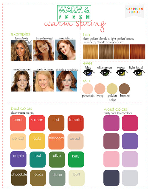 Color Fan for Warm Light Spring Palette (Your Perfect Colors When Shopping)